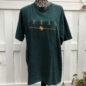 Vintage single stitch embroidered Texas t shirt